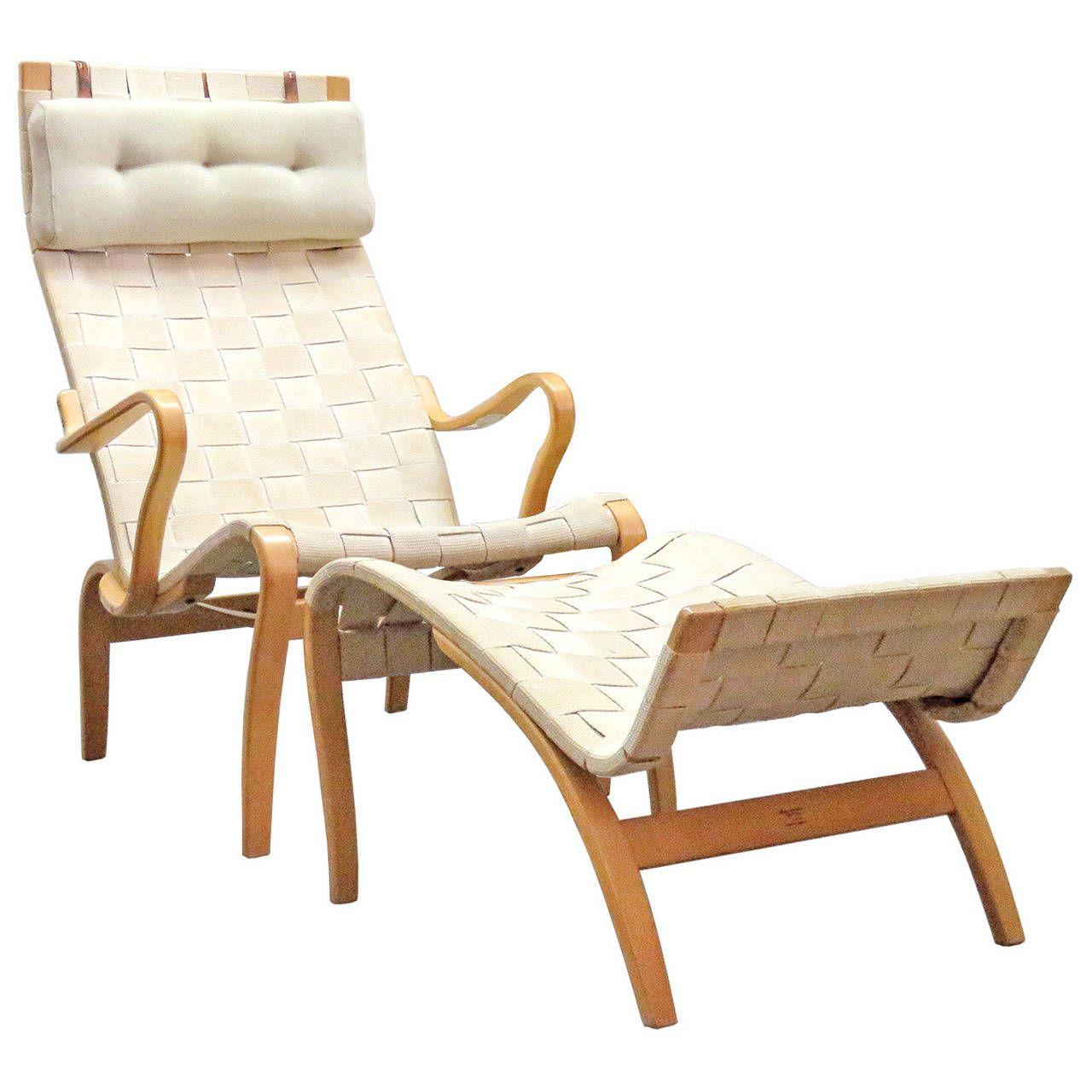 master Miranda Lounge Chairs and Ottoman by Bruno Mathsson