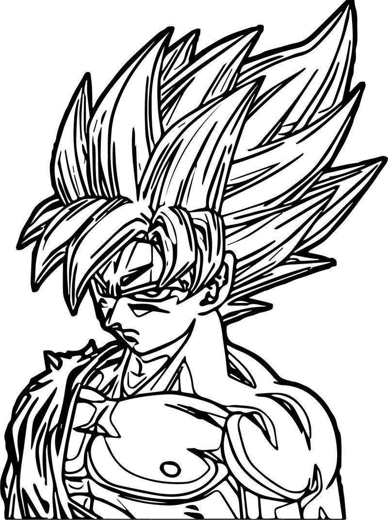 Goku Face Coloring Page Coloring Pages For Kids Coloring Pages Goku Face