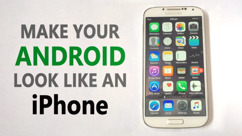How To Make Your Android Look like An iPhone (Without Root
