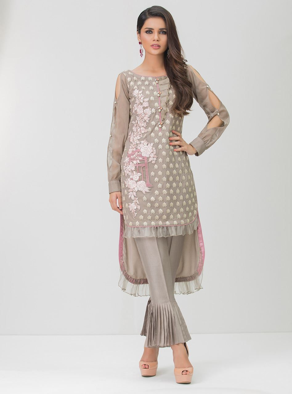 3be47b98cda Ready To Wear Pakistani Grey Color dress By Zainab Chottani store online  2018