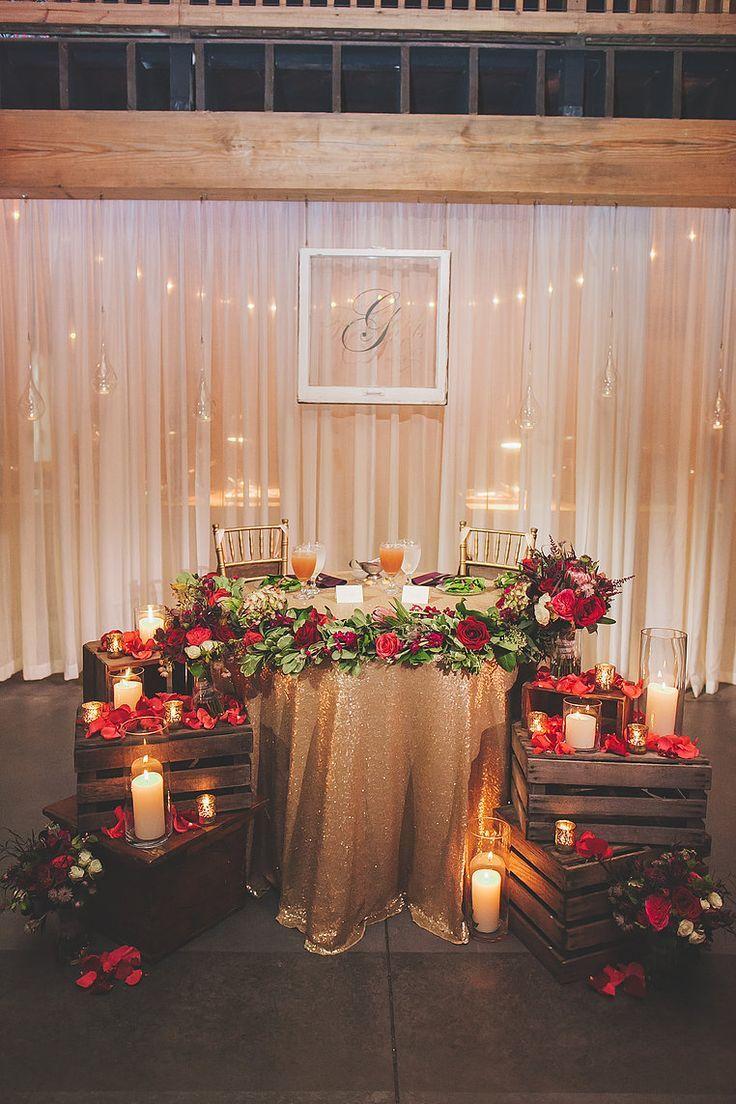 Wedding decoration ideas gold   Awesome Festive Christmas Theme Winter Wedding Ideas  WEDDING