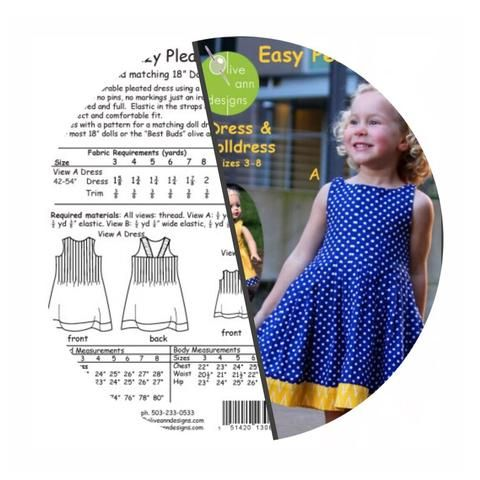 Girl and Doll Sewing Patterns - Online Sewing Patterns Canada ...