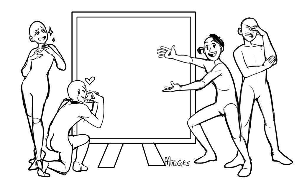 Прикольные позы для рисунков, день