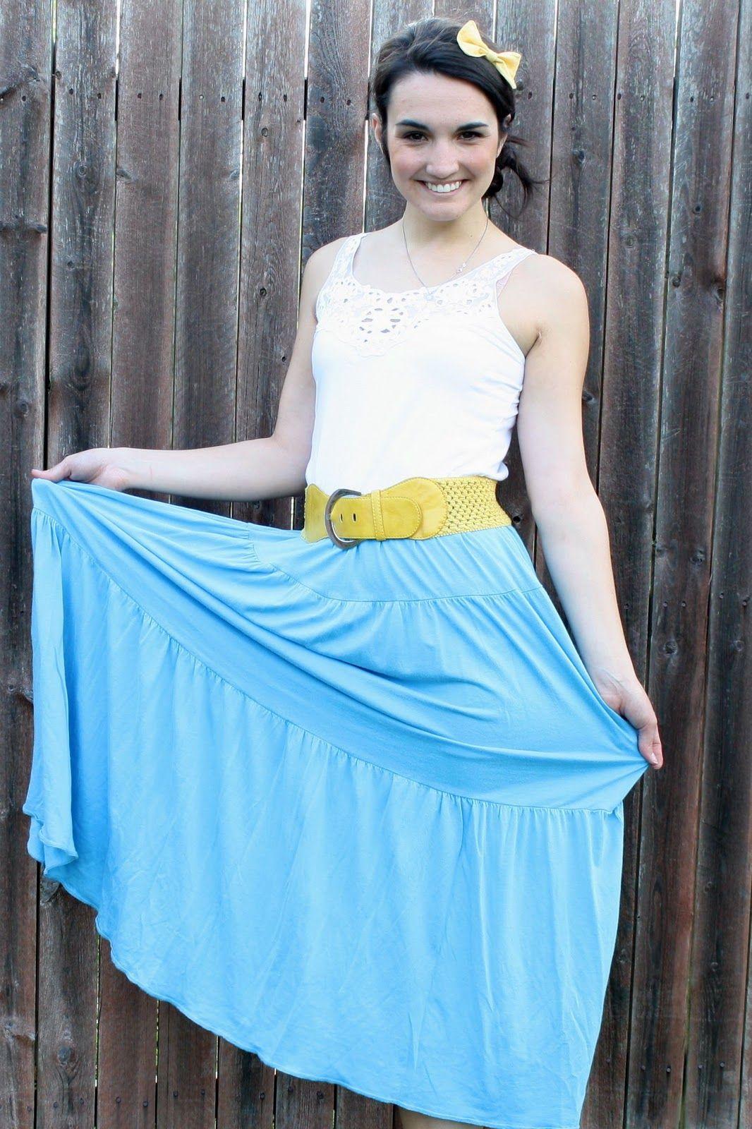 Sew Caroline: Tutorial: dress turned maxi-skirt