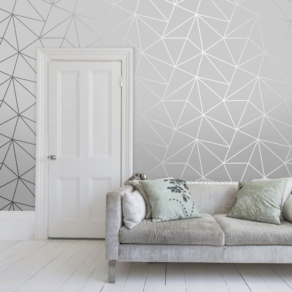 I Love Wallpaper Zara Shimmer Metallic Wallpaper Soft Grey Silver