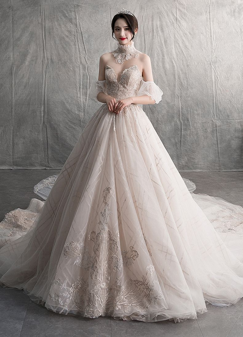 3ff0d07c02f32 Sexy Luxury / Gorgeous Champagne Wedding Dresses 2019 A-Line ...
