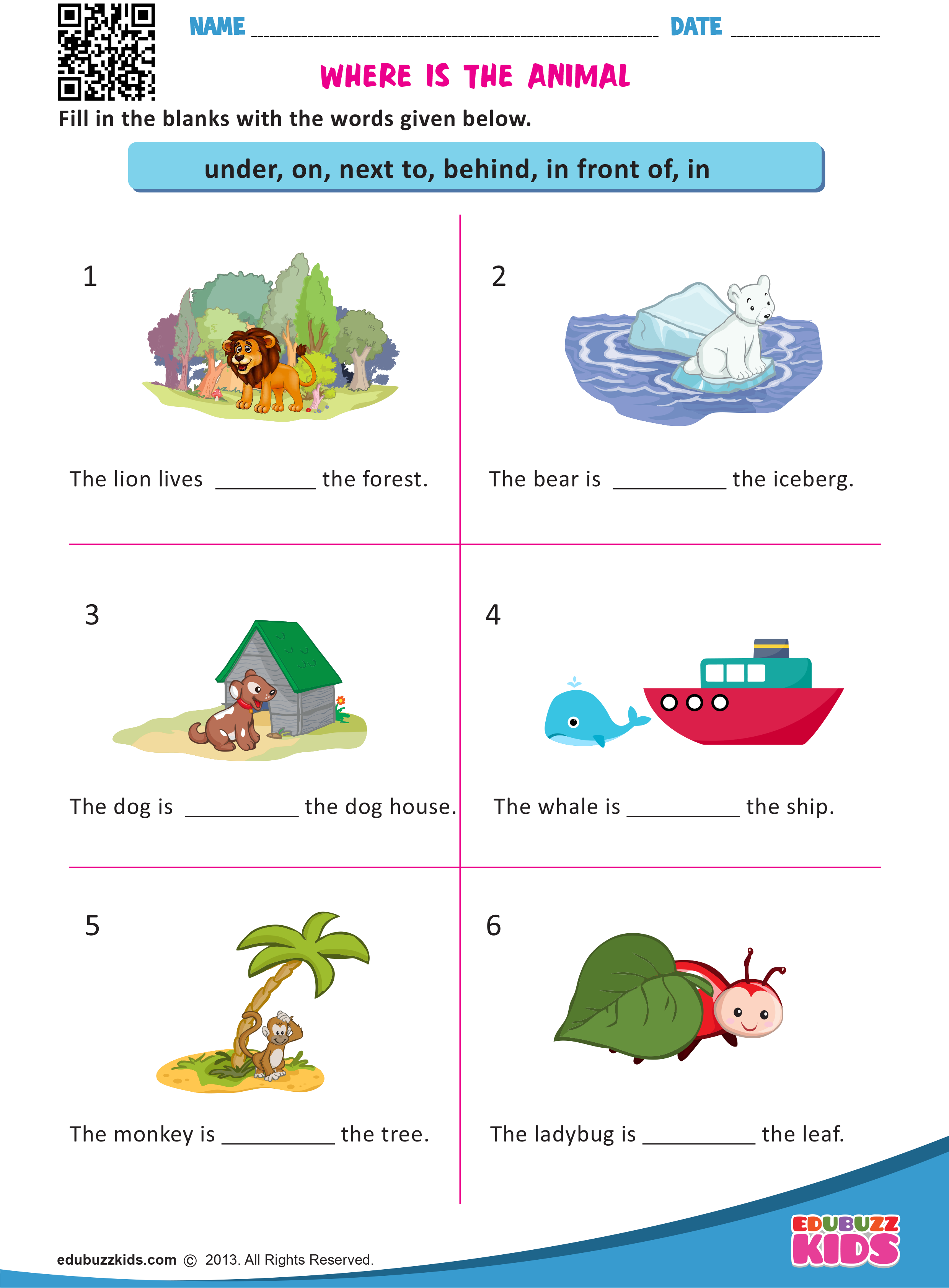 Printable French Preposition Worksheets   Printable Worksheets and  Activities for Teachers [ 3366 x 2480 Pixel ]