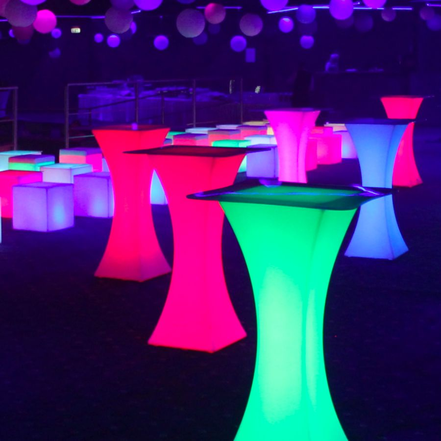 Led Lighted Cocktail Tables Rental Ny Nj Long Island For Indoor Outdoor Use High Top Tables Cocktail Tables Patio Bar Set