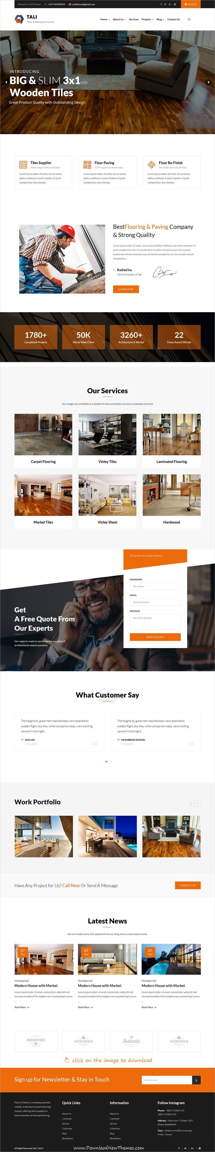 Tali is clean and modern design 2in1 responsive WordPress theme for ...