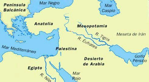 Tigris Y Eufrates Mapa.Pin En Sociales