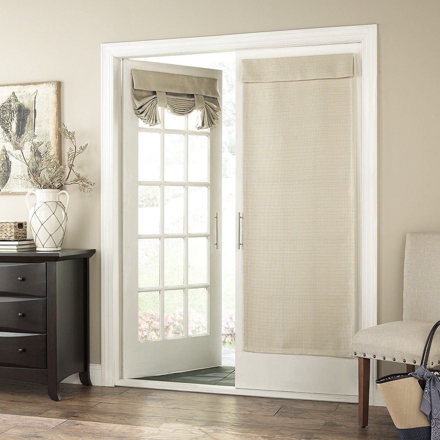 68 Inch Latte Solid Color Blackout French Door Curtain Single