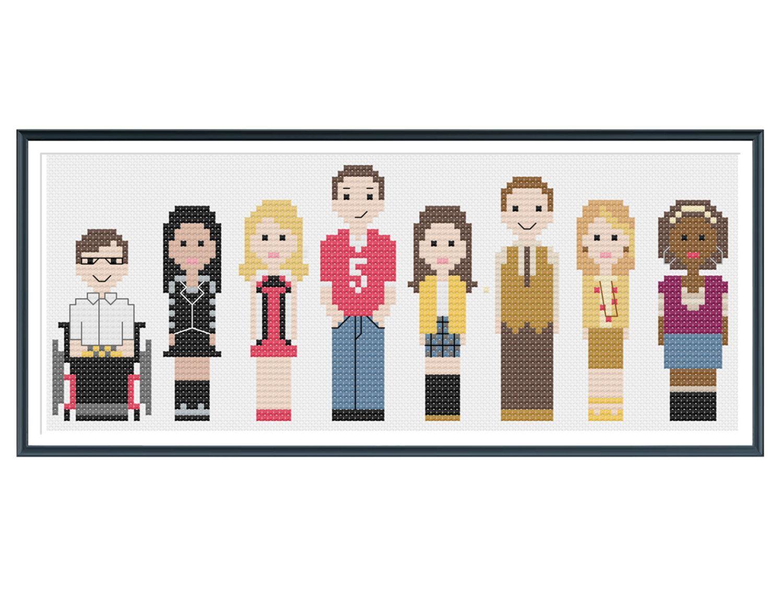 Glee cross stitch pattern pdf instant download by