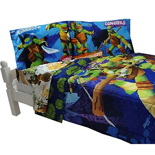 5pc Teenage Mutant Ninja Turtles Full Bedding Set Tmnt Turtle Power Comforter And Sheets Continue To The Product At Full Bedding Sets Bed Kids Bedding Sets