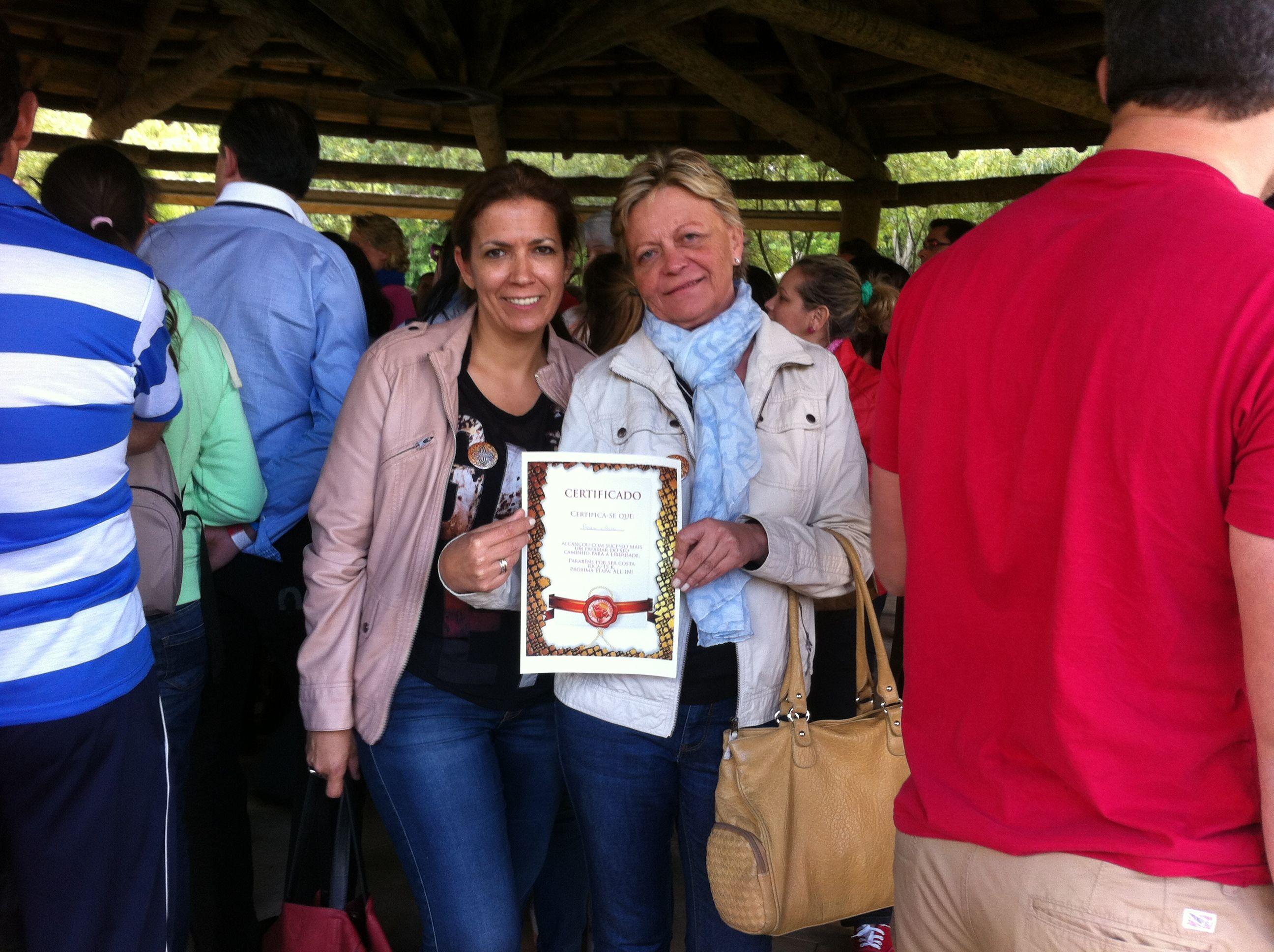 Con mi afiliada y amiga María Olmo, el día que decidió hacerse All-In. http://yvolveraempezar.com/pinterest