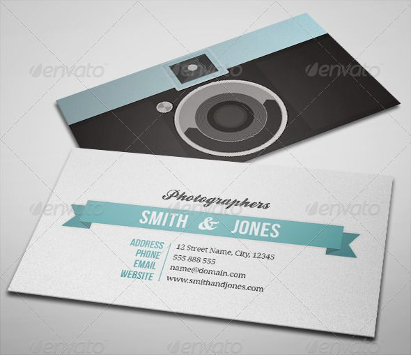 Sleek Illustrated Photography Business Card | Photography business ...