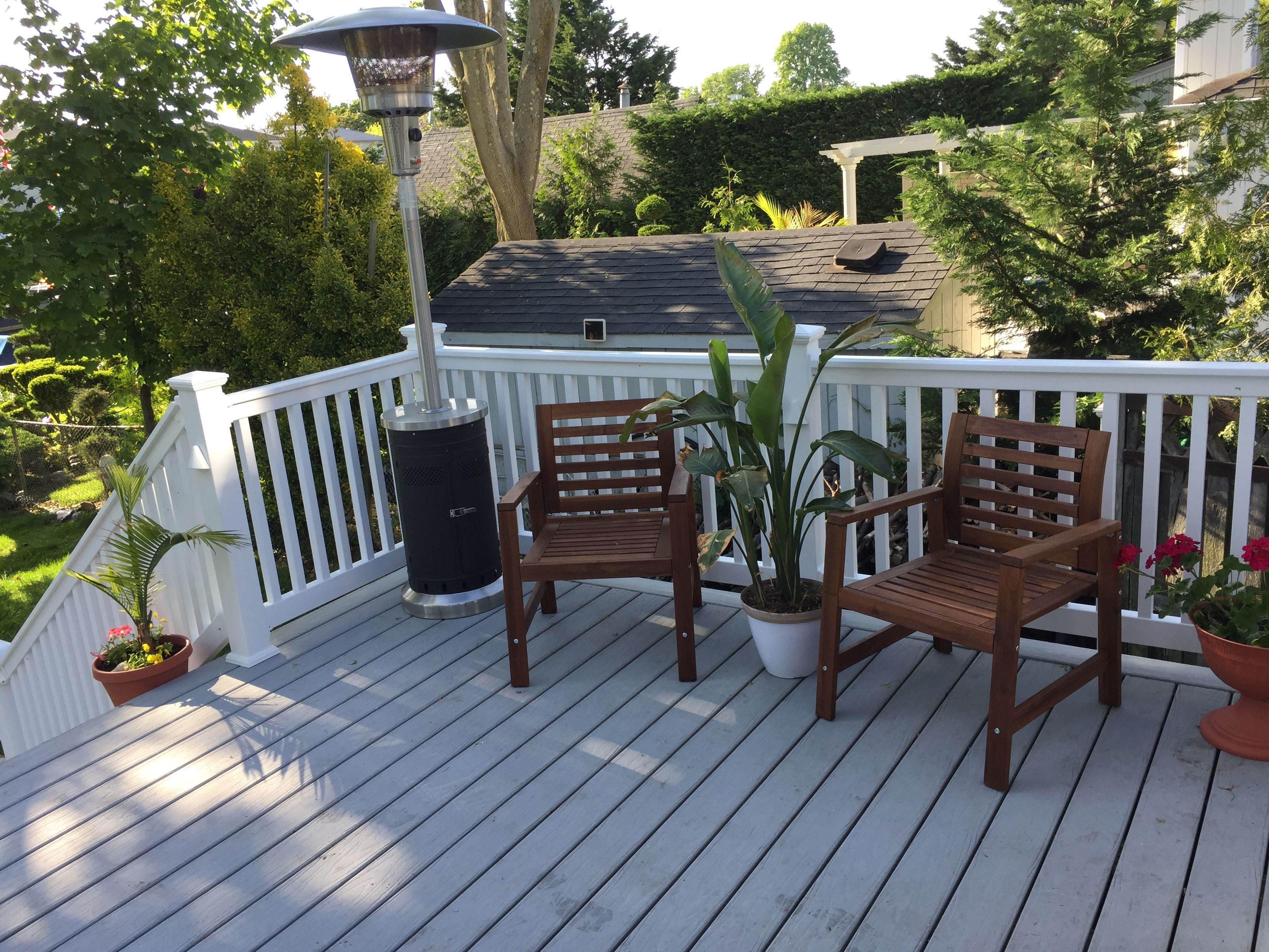 Beachhouse Grey Composite Decking From Lowes Deck Designs Backyard Composite Decking Colors Backyard