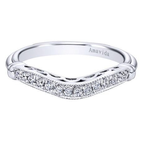 0.15 ct F-G SI Diamond Black Agate Fashion Ladie's Ring In 18K White Gold WB9918W83JJ