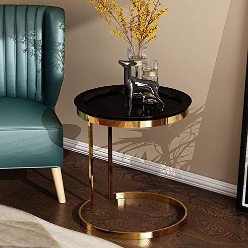 Enjoyable Zhirong Round Coffee Table Low Table Metal Sofa Side Table Machost Co Dining Chair Design Ideas Machostcouk