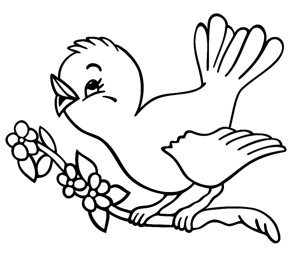 Coloring Pages For 5 7 Year Old Girls To Print For Free Bird Coloring Pages Bird Drawings Coloring Pages