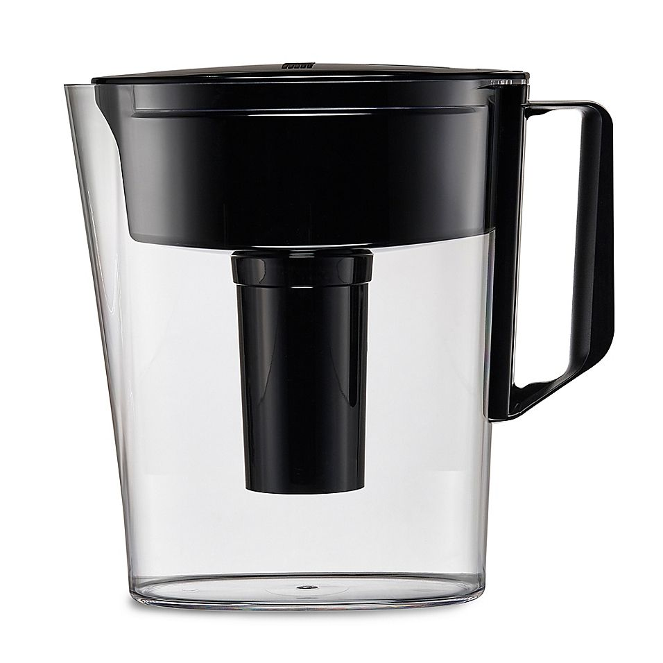 Brita soho 5cup water filtration pitcher in black water
