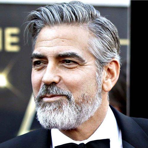 george clooney facial hair styles