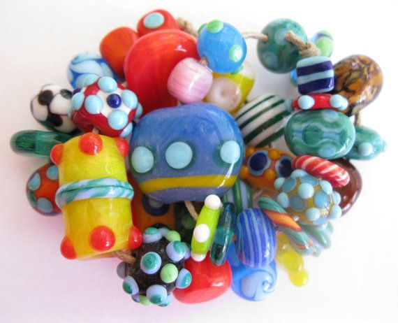 Handmade Lampwork Orphan Beads SRA