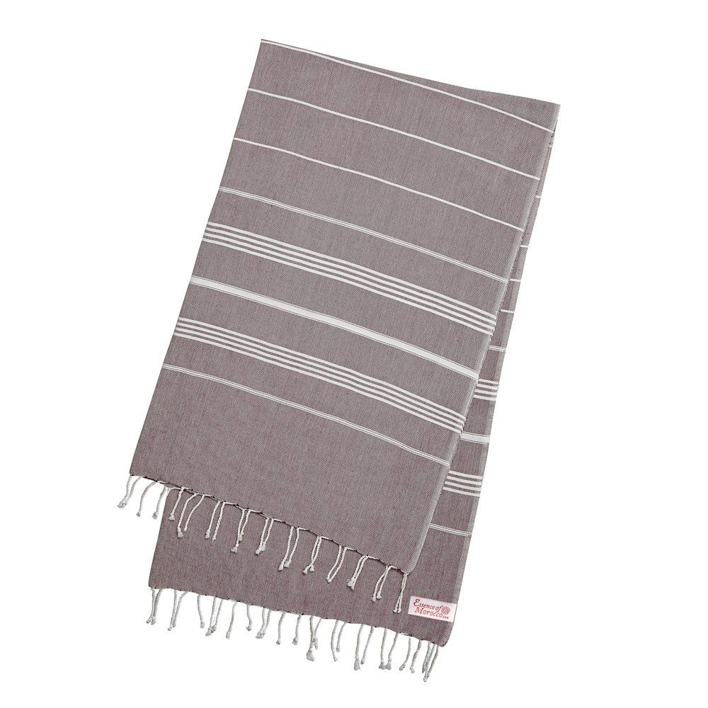 "Hammam Bath, Beach Fouta Towel, Moroccan Cinnamon, Large (170 cm x 100 cm / 77"" x 39.3"")"