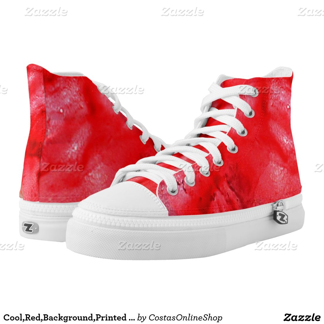Cool,Red,Background,Printed Shoes Printed Shoes,custom, shoe, high, top, printed, cool, pattern, fashion, unique, stylish, images, abstract