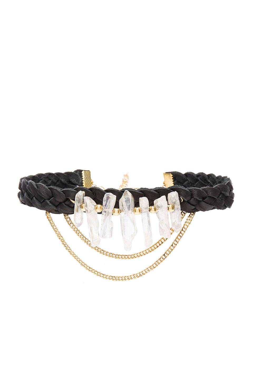 Ettika Braided Choker in Black & Gold | REVOLVE