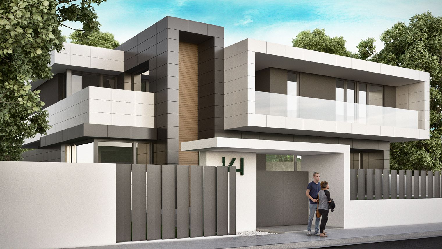 Viviendas unifamiliares minimalistas buscar con google - Fachadas viviendas unifamiliares ...