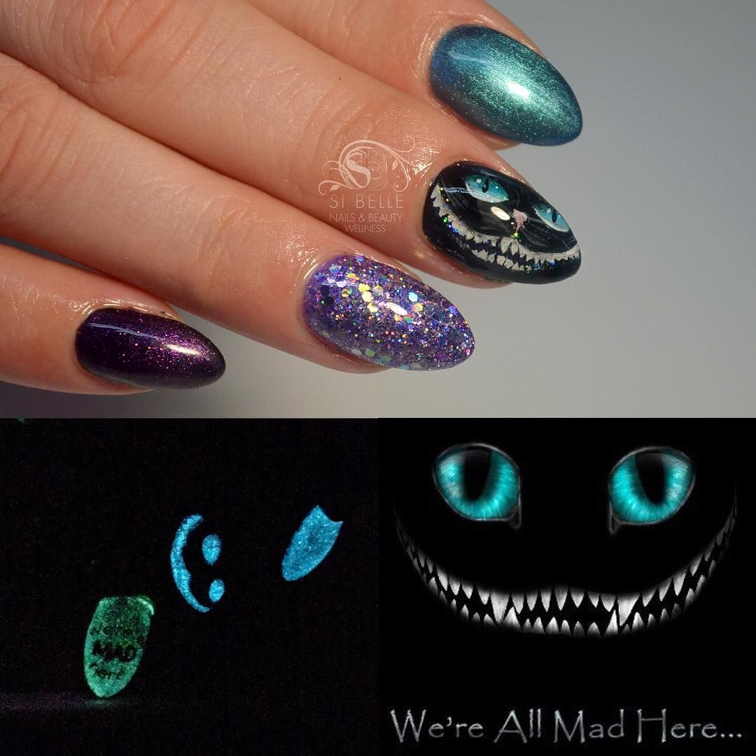 Cheshire cat handpainted Nailart Si\'belle Nails | Hair & Beauty that ...