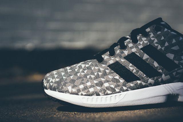 adidas zx flusso slalom (grigio / nero) da ginnastica sgorbio borse, scarpe