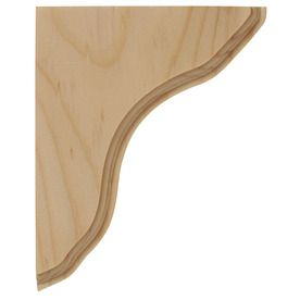 Paint Or Stain Grade Shelf Bracket Wood Corbels Wooden Shelf