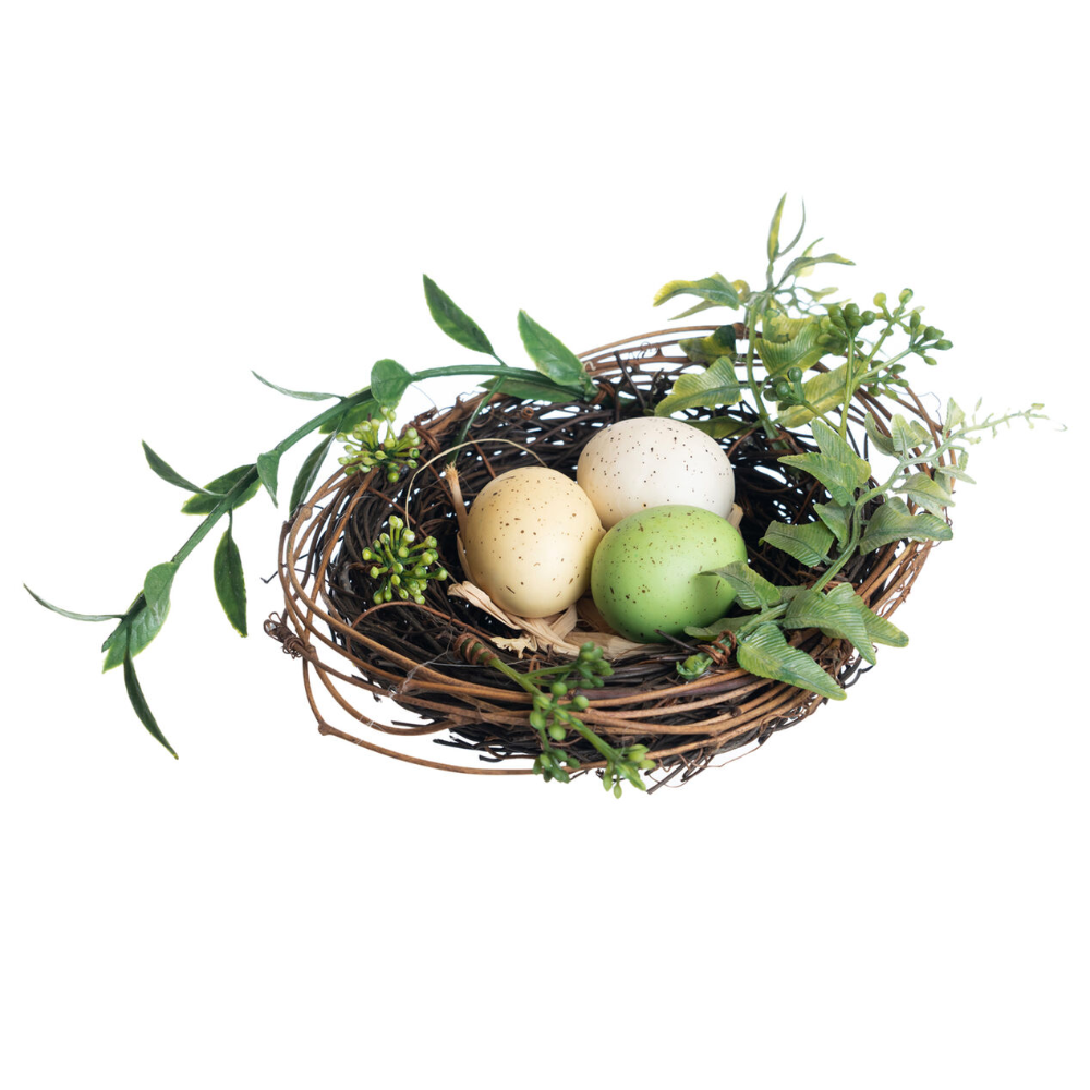 Decorative Bird Nest With 3 Eggs Bird Nest Craft Easter Birds Nest Nest