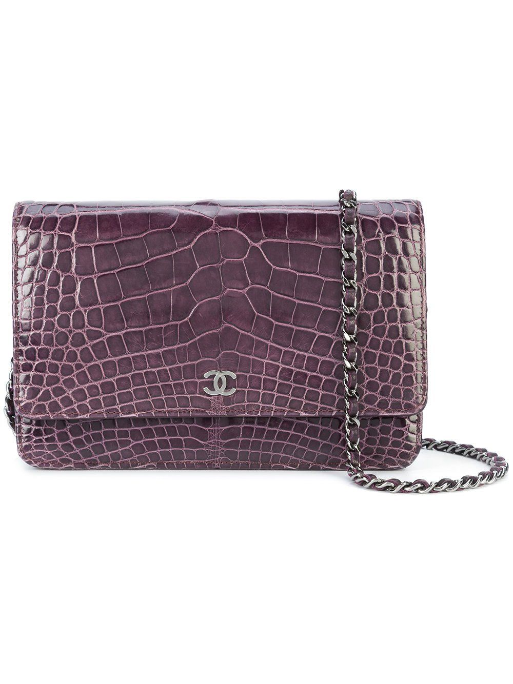 eaddbc7cae73 Chanel Amethyst Purple Alligator Wallet on Chain WOC Bag | Products ...