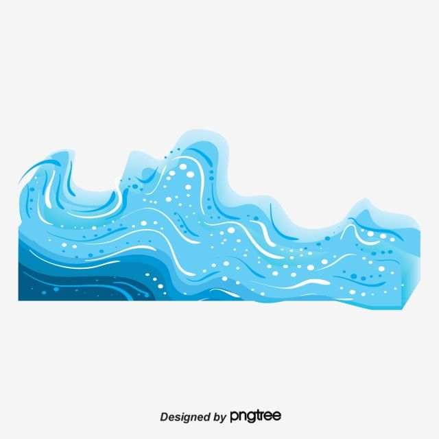 Vector Cartoon Waves Wave Clipart Wave Blue Png Transparent Clipart Image And Psd File For Free Download Gold Wallpaper Background Wave Clipart Waves