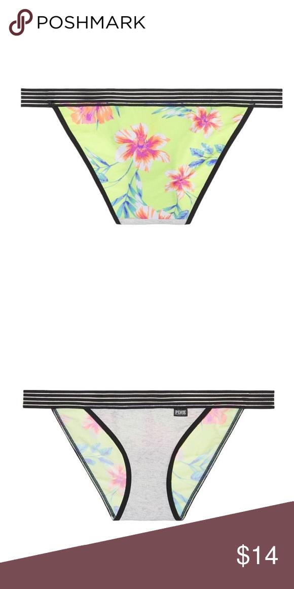 Victorias Secret Stretch Velvet Bikini Panty Pink VS Logo M Nwt