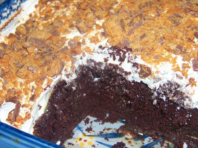 Butterfinger Caramel Chocolate Cake Ingredients 1 Box Of