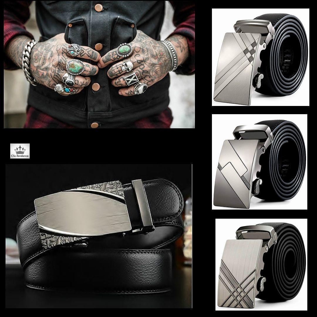 af2279034c7c Ceinture Métal Design Gravé - Homme Boucle Automatique B Ceinture Homme  Design, cette ceinture est