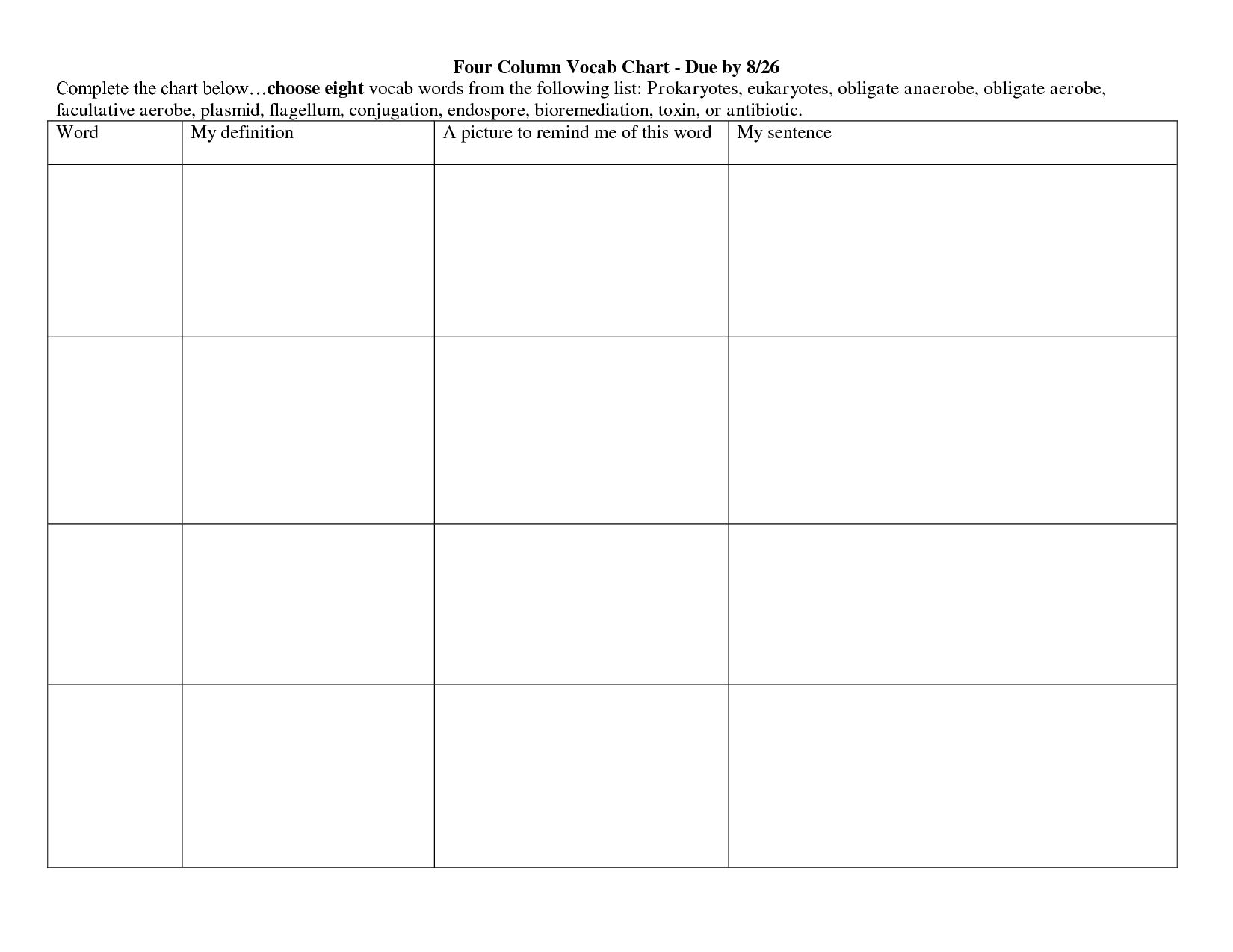 Blank Three Column Worksheet