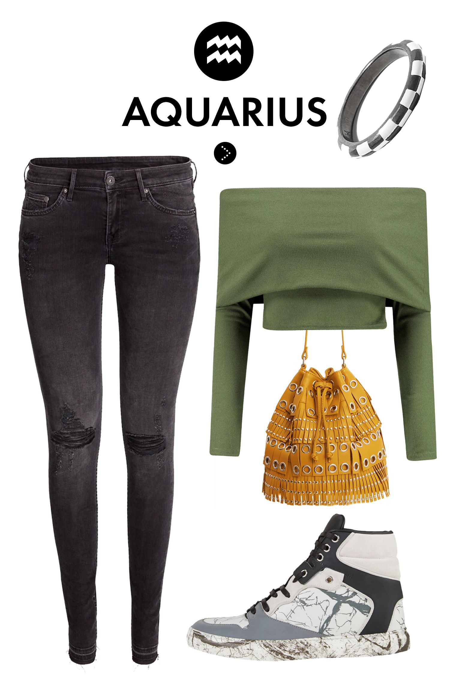 What You Should Wear On A First Date According To Your Sign Aquarius Fall Fashion And Ootd