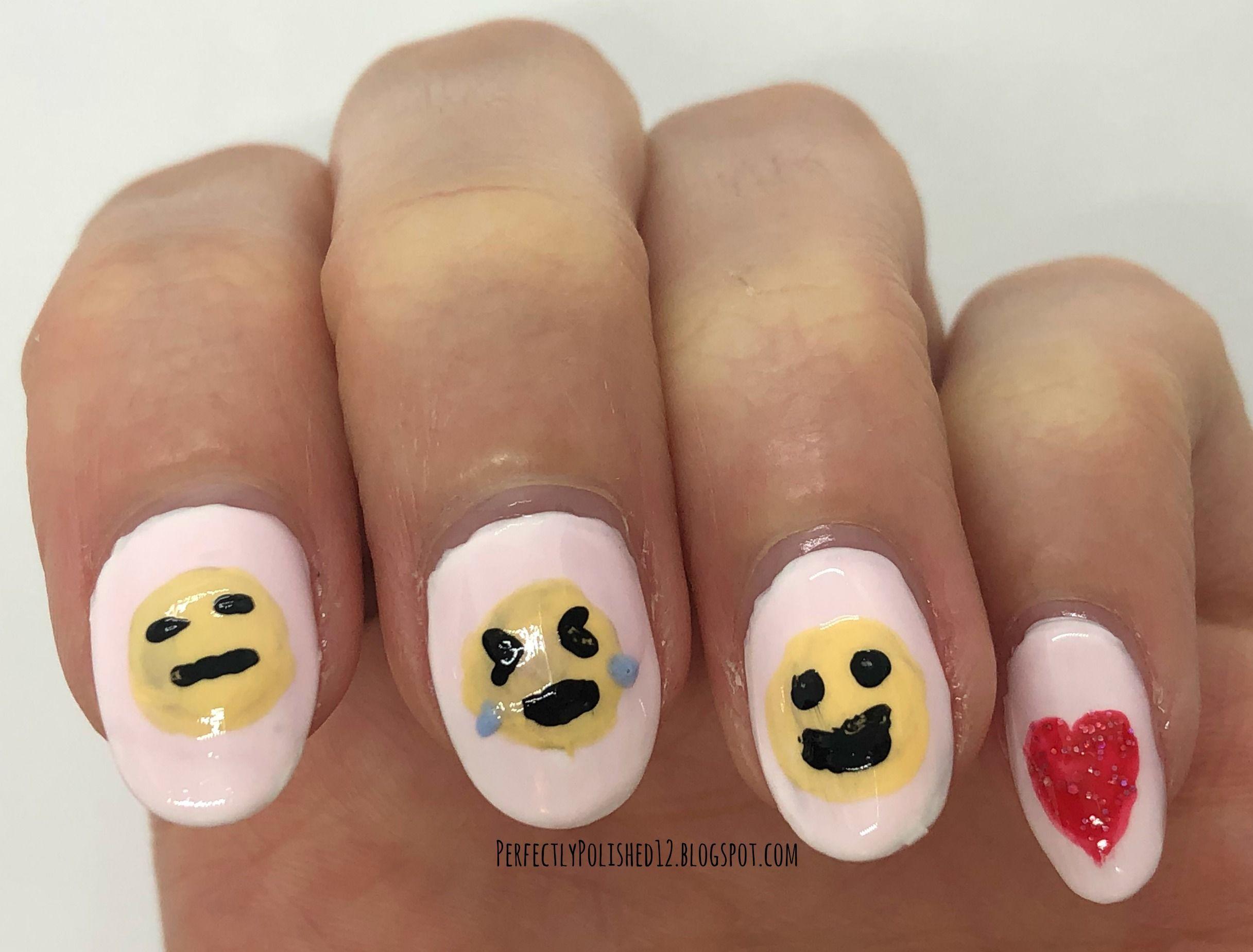 Emoji Nail Art Emoji Nails Nail Art Nails