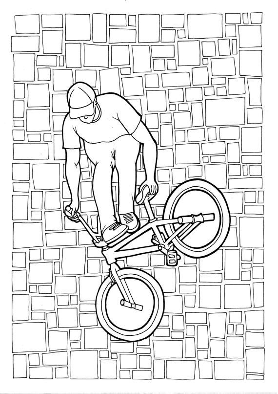 Extreme Sports 5 Pack Bmx Flatland Zentangle Pdf Coloring Page