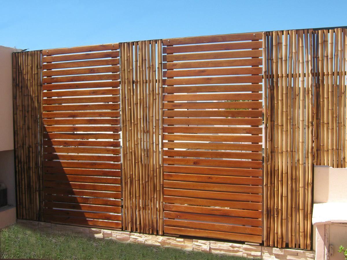 Paneles de ca as tacuara bambu cercos pergolas divisiones - Paneles madera jardin ...
