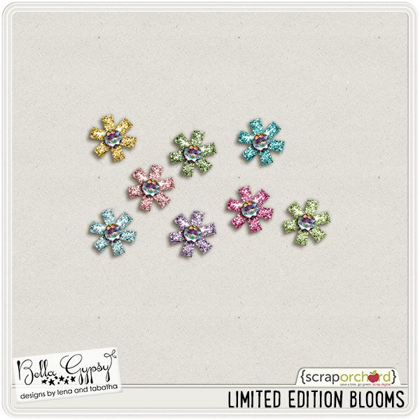Quality DigiScrap Freebies: Limited Edition Blooms freebie from Bella Gypsy Designs