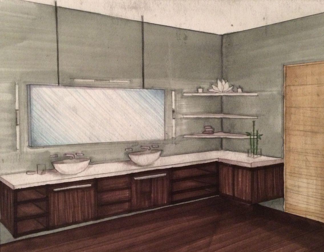 interior 2 point perspective bathroom rendering chrisp_designs interior design