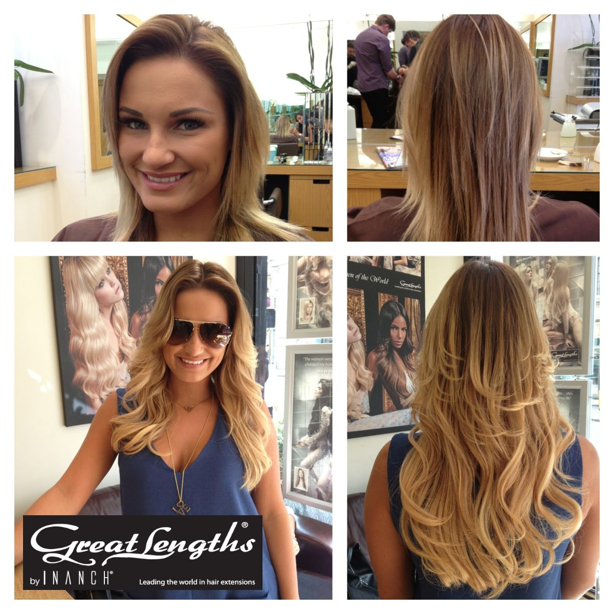 towie's most stylish lady sam faiers with her new dip-dye