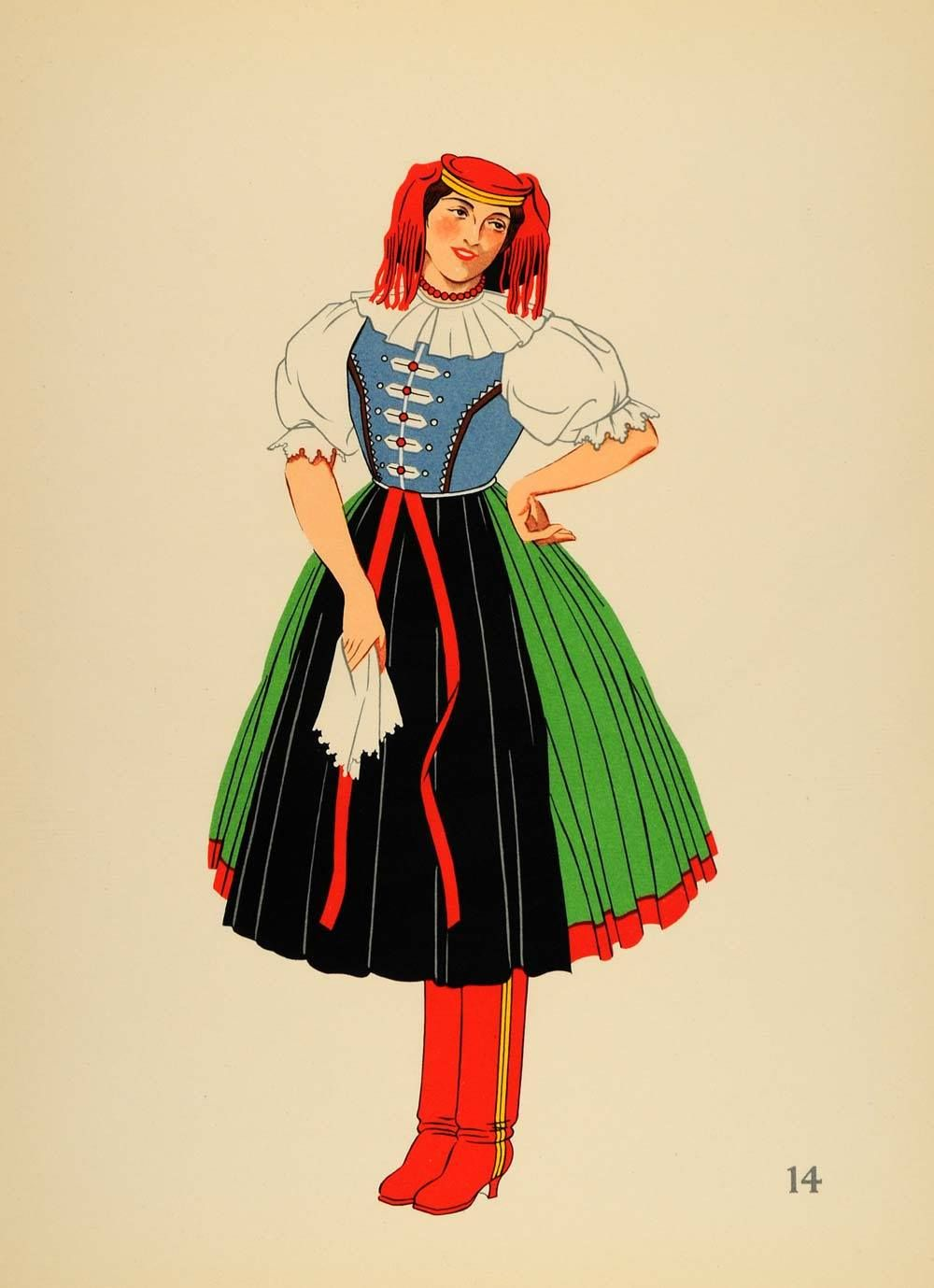 National costumes of the countries of austria hungary poland and