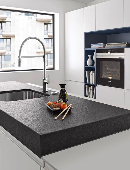 This raised u0027chunkyu0027 worktop is ultra modern and gives another - nolte küchen griffe