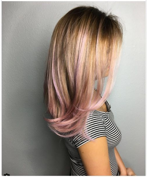 Trendy Mid Length Hair Colors New Best Newest Hairstyle Trends Pink Blonde Hair Hair Highlights Cool Blonde Hair